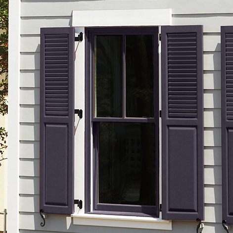 Louver & Panel Combination Shutters